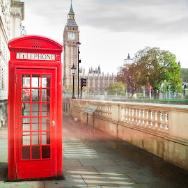 Big ben and red phone cabine by Deyan Georgiev - City,  Street & Park  Historic Districts ( famous, call, cabin, old, phone, europe, street, architecture, travel, capital, historic, city, time, england, sky, kingdom, monument, classic, icon, building, united, uk, symbol, clock, british, tourism, traditional, ben, booth, history, parliament, landmark, tower, red, european, london, westminster, box, public, big, telephone, english, culture, britain )