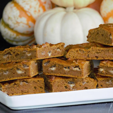 White Chocolate Pumpkin Brownies
