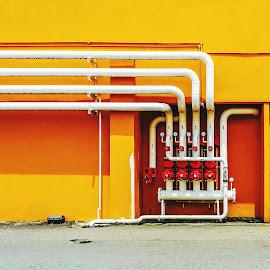 Utilities by Norhan Sukaatti - Buildings & Architecture Architectural Detail ( mobilography, patterns, colorful, lines, architecture )