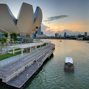 View of Sunset at MBS by Sim  Chee teck - Landscapes Sunsets & Sunrises