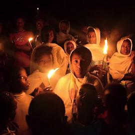 Chíldren with Candles. by Marcel Cintalan - Babies & Children Children Candids ( night photography, candles, children, ceremony, ethiopia )