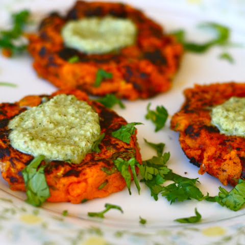 Indian Spiced Sweet Potato Patties