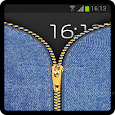 Zipper Lock Screen Jeans