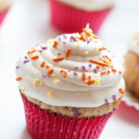 Whole Wheat Funfetti Cupcakes