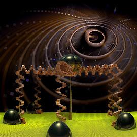 Five Legged Walk by Rick Eskridge - Illustration Sci Fi & Fantasy ( fantasy, jwildfire, mb3d, fractal, twisted brush )