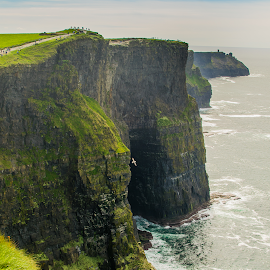 Cliffs of Moher by Diego Aguiar - Landscapes Caves & Formations ( moher, cliffs, sea, sun, formation )