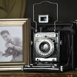 WWII Camera by Lorraine D.  Heaney - Artistic Objects Antiques