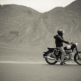 Biker by Mangesh Jadhav - Transportation Motorcycles ( rider, guy, royal, biker, enfield )