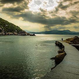 Alone with Sun by Mai Trần - Landscapes Travel ( sea, beach, landscape, alone, sun )