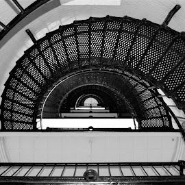 200 Steps by Natalie Geoghagan - Black & White Buildings & Architecture