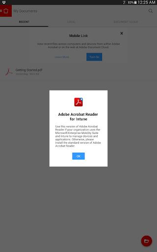 Acrobat Reader for Intune - screenshot