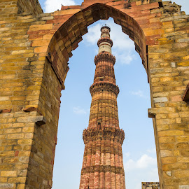Qutub Minar by Sanjeev Goyal - Buildings & Architecture Statues & Monuments ( get, set, run, and, go )
