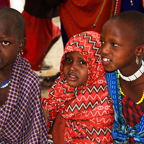Masai School Children by Tom Howes - Babies & Children Children Candids ( tanzania, people )