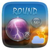 Round GO Weather Widget Theme