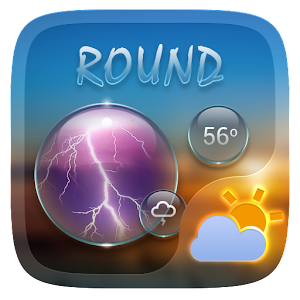 Round Go Weather Widget Theme   Android Apps On Google Play