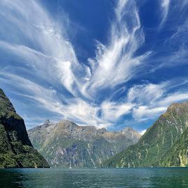 Fiordland by Tomasz Budziak - Landscapes Cloud Formations ( clouds, landscapes, new zealand )