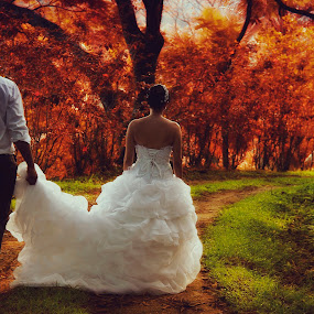 Going into eternity by Jean Carlos Monnerat - Wedding Bride & Groom ( love, wedding, bride, groom, trash the dress )