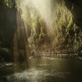 Pangandaran Cave Sunlight by Welly Agus - Landscapes Caves & Formations ( beautiful, sunlight, cave )