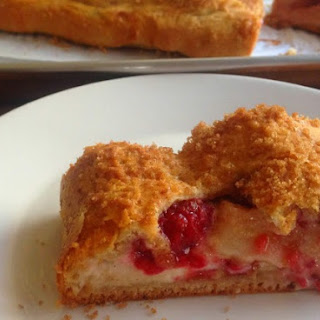 Italian Raspberry Lemon Cream Cheese Strudel