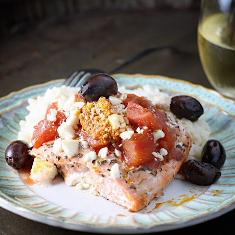 Easy Greek Baked Salmon