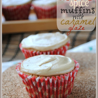 Apple Spice Muffins with Caramel Glaze