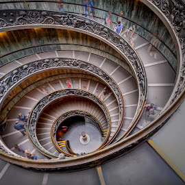 Waiting in the Spiral by Adrian de Vera - Buildings & Architecture Architectural Detail