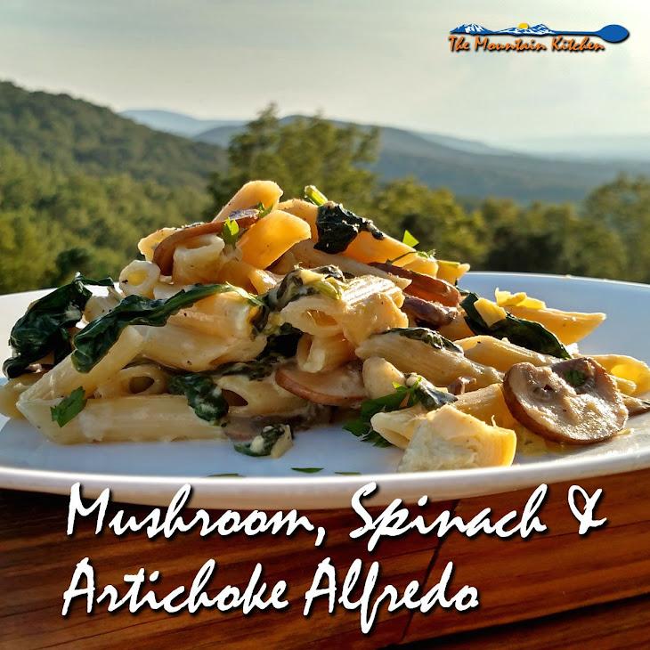 Mushroom, Spinach & Artichoke Alfredo Recipe | Yummly