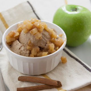 Cinnamon Ice Cream with Apple Compote