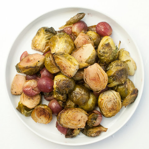 Roasted Brussel Sprouts and Grapes