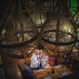 by Zeljko Marcina - Wedding Bride & Groom ( love, old, wedding, croatia, split, town, bride, restaurant, groom )