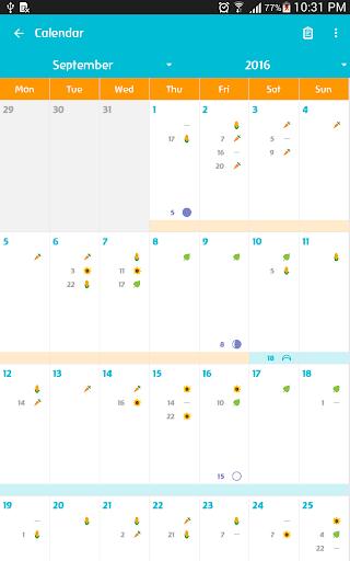 Biodynamic Calendar - screenshot