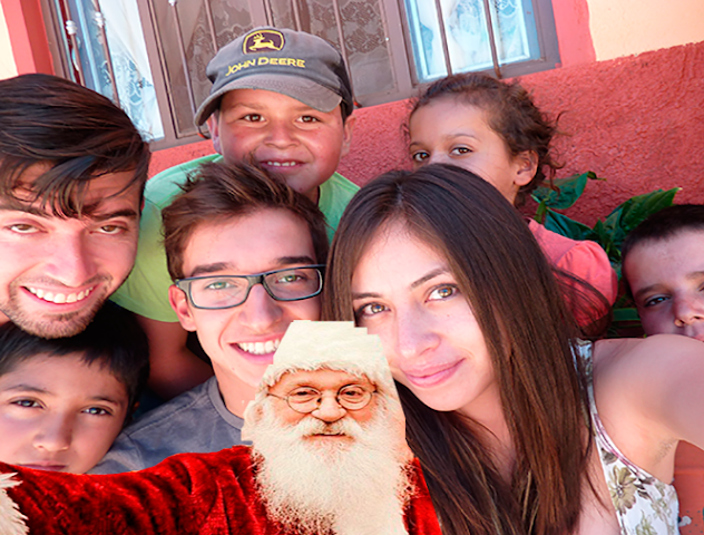 android Santa Claus Selfie Joke Screenshot 1