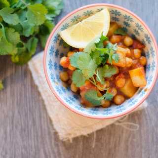 Quick and Easy Chickpea and Potato Curry Recipe.