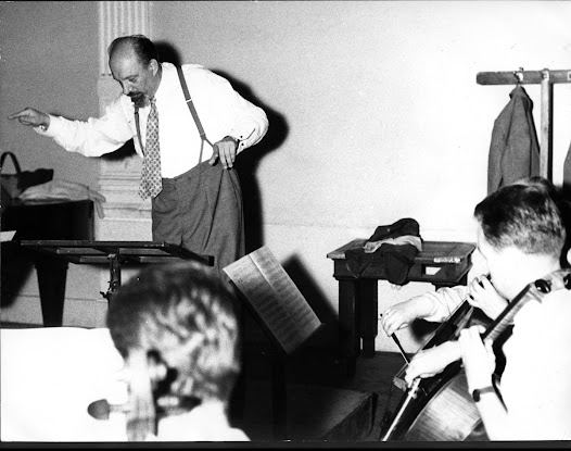 Matz conducts a cello ensemble, probably in the 1960s.  Matz was associated with a number of cello ensembles throughout his career.