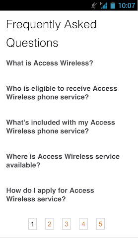 android Access Wireless My Account Screenshot 5