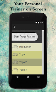 Basic Yoga Position Guide - screenshot