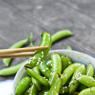 Spicy Sesame Sugar Snap Peas