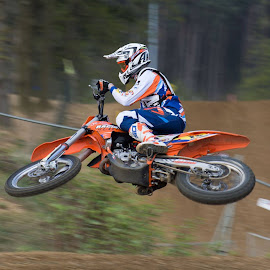 Motor jumping by Wendy Chlum - Sports & Fitness Motorsports ( motocross, motorbike, sports, motion )