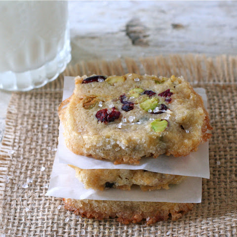 Cranberry Pistachio Icebox Cookies