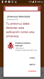 Test your antivirus - screenshot