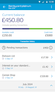 App Barclaycard - mybarclaycard APK for Windows Phone