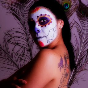 Day of the Dead by David Benedict - Nudes & Boudoir Artistic Nude ( face, face paint, day of the dead, face painting,  )