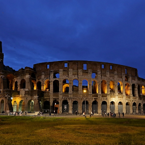Koloseum by Blaz Crepinsek - Buildings & Architecture Public & Historical ( coloseum, rome, evening,  )