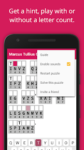 Cryptogram Cryptoquote Puzzle- screenshot thumbnail
