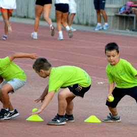 Battle for a fraction by Vladimir Bogovac - Babies & Children Children Candids ( training, athletics, sports, children, competition,  )
