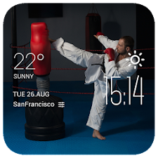judo weather widget/clock