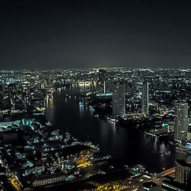 Bangkok by Carlos Lopes - City,  Street & Park  Vistas