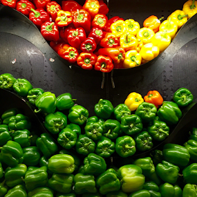 Two Tiered Peppers by Lope Piamonte Jr - Food & Drink Fruits & Vegetables