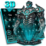 3D Neon Iron Hero Keyboard theme Icon