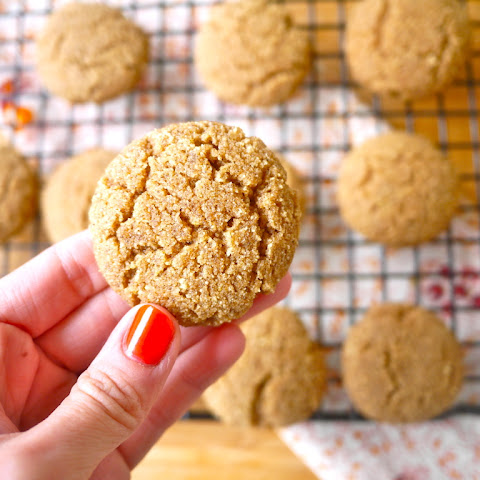 Coconut Flour Ginger Cake Cookies (paleo, GF)